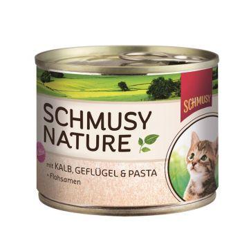 Schmusy Natures Kitten Kalb & Gefl.190g (Menge: 12 je Bestelleinheit)