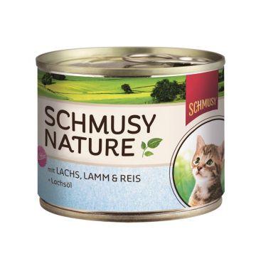 Schmusy Natures Kitten Lachs & Lamm 190g (Menge: 12 je Bestelleinheit)