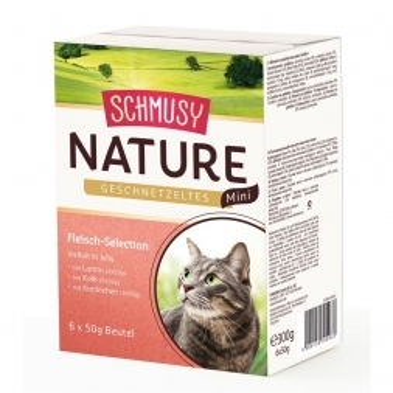 Schmusy Nature Geschnetzeltes Mini Fleischl Selection 6x50g (Menge: 12 je Bestelleinheit)