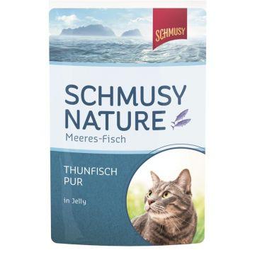 Schmusy Nature Frischebeutel Meeres-Fisch Thunfisch pur 100g (Menge: 24 je Bestelleinheit)