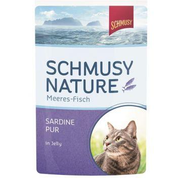 Schmusy Nature Frischebeutel Meeres-Fisch Sardine pur 100g (Menge: 24 je Bestelleinheit)