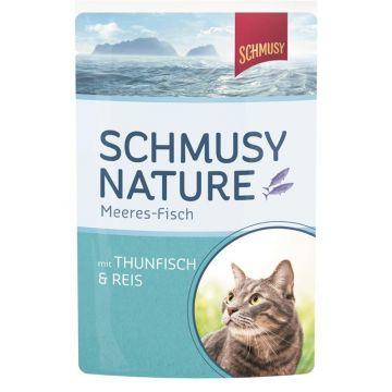 Schmusy Nature Frischebeutel Meeres-Fisch Thunfisch & Reis 100g (Menge: 24 je Bestelleinheit)