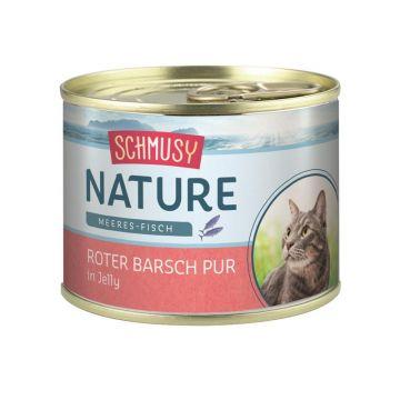 Schmusy Nature Dose Meeres-Fisch Roter Barsch pur 185g  (Menge: 12 je Bestelleinheit)