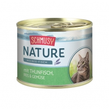 Schmusy Nature Meeres-Fisch Dose Thunfisch, Reis & Gemüse 185g  (Menge: 12 je Bestelleinheit)