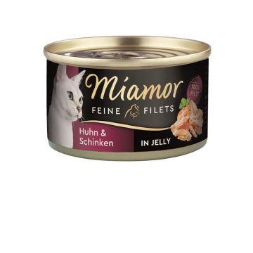 Miamor Dose Feine Filets Huhn & Schinken 100 g (Menge: 24 je Bestelleinheit)