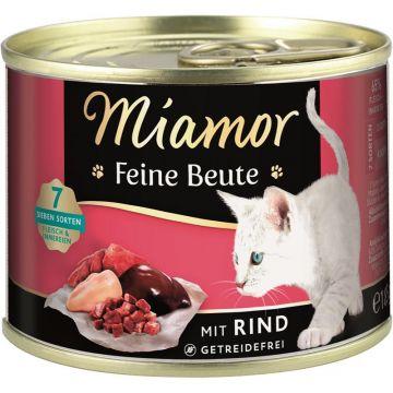 Miamor Dose Feine Beute Rind 185 g (Menge: 12 je Bestelleinheit)