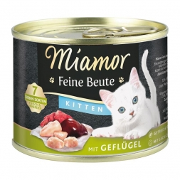 Miamor Dose Feine Beute Kitten Geflügel 185 g (Menge: 12 je Bestelleinheit)