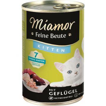 Miamor Dose Feine Beute Kitten Geflügel 400 g (Menge: 12 je Bestelleinheit)