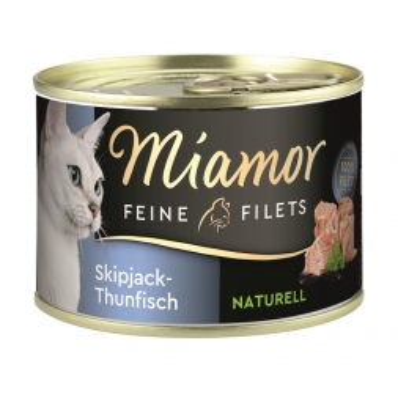Miamor Dose Feine Filets Naturelle Skipjack-Thunfisch 156g  (Menge: 12 je Bestelleinheit)