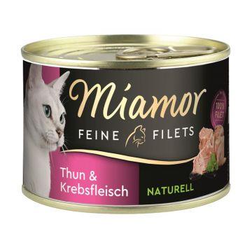 Miamor Feine Filets Naturelle Thunfisch & Krebsfleisch 156g Dose (Menge: 12 je Bestelleinheit)
