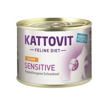 Kattovit Dose Feline Diet Sensitive Huhn 185g (Menge: 12 je Bestelleinheit)