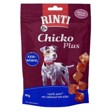 RINTI Chicko Käsewürfel mit Ente 80g (Menge: 12 je Bestelleinheit)