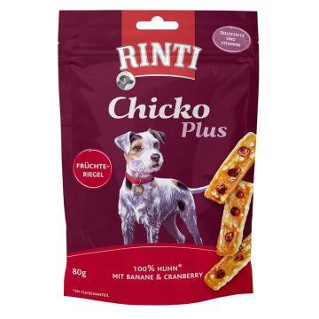 RINTI Chicko Plus Früchteriegel mit Huhn 80g (Menge: 12 je Bestelleinheit)