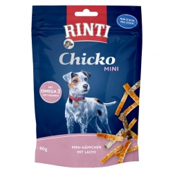 RINTI Chicko Mini Häppchen mit Lachs 80g (Menge: 12 je Bestelleinheit)