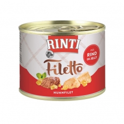 Rinti Dose Filetto Huhn & Rind in Jelly 210g  (Menge: 12 je Bestelleinheit)