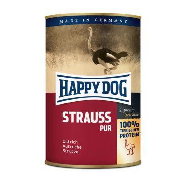 Happy Dog Dose Strauß Pur 400g (Menge: 12 je Bestelleinheit)