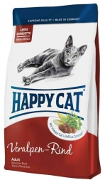 Happy Cat Adult Voralpen-Rind 12x50g Probenkarton