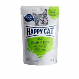Happy Cat Pouches Meat in Sauce Adult Lamm & Leber 85g (Menge: 24 je Bestelleinheit)