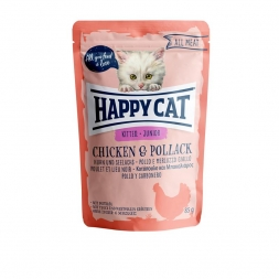 Happy Cat Pouches All Meat Junior Huhn & Seelachs 85g (Menge: 24 je Bestelleinheit)