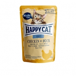 Happy Cat Pouches All Meat Adult Huhn & Ente 85g (Menge: 24 je Bestelleinheit)