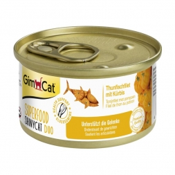 GimCat Superfood ShinyCat Duo Thunfisch&Kürbis 70g (Menge: 24 je Bestelleinheit)