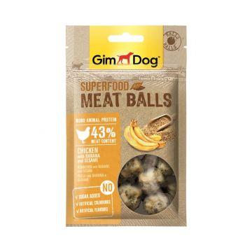 GimDog Superfood Meat Balls Huhn Banane und Sesam 70g