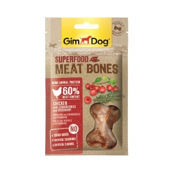 GimDog Superfood Meat Bones Huhn Cranberry Rosmarin 70g