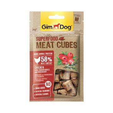 GimDog Superfood Meat Cubes Huhn Cranberry Rosmarin 40g