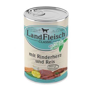 Landfleisch Dog Pur Rinderherzen & Reis 400 g (Menge: 12 je Bestelleinheit)