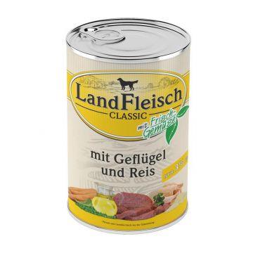 Landfleisch Dog Pur Geflügel & Reis extra mager 400 g (Menge: 12 je Bestelleinheit)
