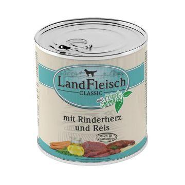 Landfleisch Dog Pur Rinderherzen & Reis 800 g (Menge: 6 je Bestelleinheit)