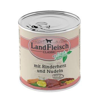 Landfleisch Dog Pur Rinderherzen & Nudeln 800 g (Menge: 6 je Bestelleinheit)