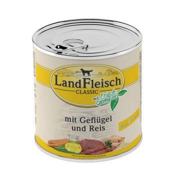 Landfleisch Dog Pur Geflügel & Reis extra mager 800 g (Menge: 6 je Bestelleinheit)