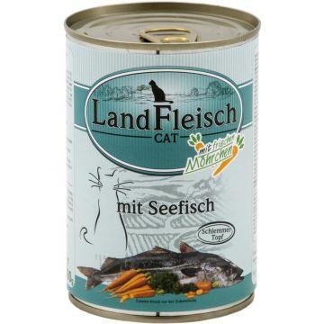 Landfleisch Cat Dose Schlemmertopf Seefisch 400g (Menge: 12 je Bestelleinheit)