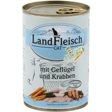 Landfleisch Cat Dose Schlemmertopf Geflügel & Krabben 400g (Menge: 12 je Bestelleinheit)