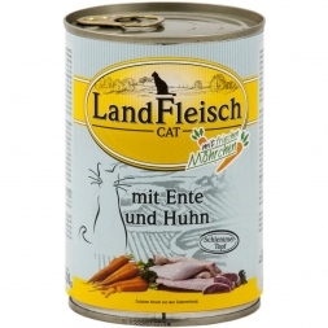 Landfleisch Cat Dose Schlemmertopf Ente & Huhn 400g (Menge: 12 je Bestelleinheit)