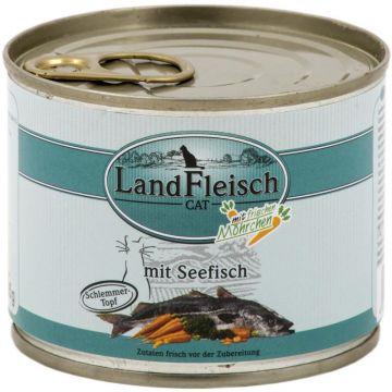LandFleisch Cat Dose Schlemmertopf Seefisch mit Frisch-Gemüse 195g (Menge: 12 je Bestelleinheit)