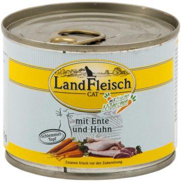 LandFleisch Cat Dose Schlemmertopf Ente & Huhn mit Frisch-Gemüse 195g (Menge: 12 je Bestelleinheit)