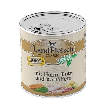 Landfleisch Dog Junior Huhn, Ente & Kartoffeln mit Frisch-Gemüse 800 g (Menge: 6 je Bestelleinheit)