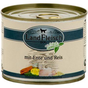 Landfleisch Dog Pur Ente & Reis mit Frisch-Gemüse 195g (Menge: 12 je Bestelleinheit)