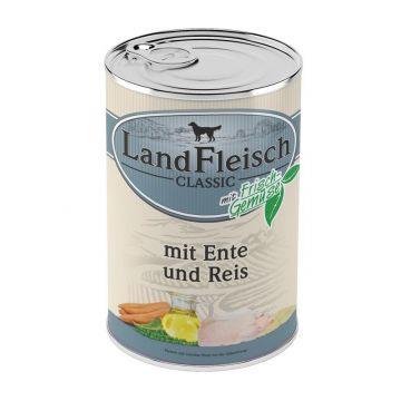 LandFleisch Dog Pur Ente & Reis mit Frisch-Gemüse 400g (Menge: 12 je Bestelleinheit)