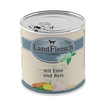 LandFleisch Dog Pur Ente & Reis mit Frisch-Gemüse 800 g (Menge: 6 je Bestelleinheit)