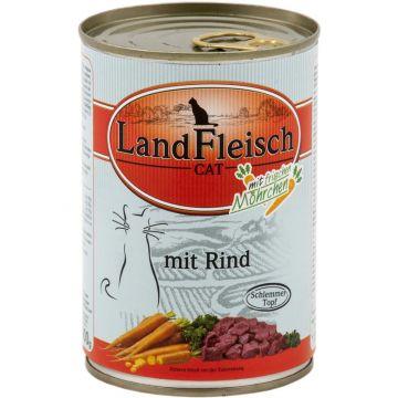 Landfleisch Cat Dose Schlemmertopf Rind mit Frisch-Gemüse 400g (Menge: 12 je Bestelleinheit)