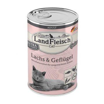 LandFleisch Cat Adult Gelee mit Lachs & Geflügel 400 g (Menge: 6 je Bestelleinheit)