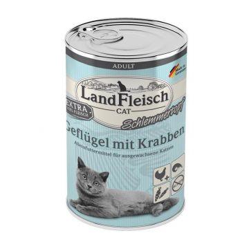 LandFleisch Cat Adult Schlemmertopf mit Geflügel & Krabben 400 g (Menge: 6 je Bestelleinheit)