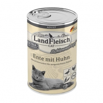 LandFleisch Cat Adult Schlemmertopf mit Ente & Huhn 400 g (Menge: 6 je Bestelleinheit)