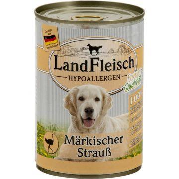 LandFleisch Dog Hypoallergen Märkischer Strauß 400g (Menge: 12 je Bestelleinheit)