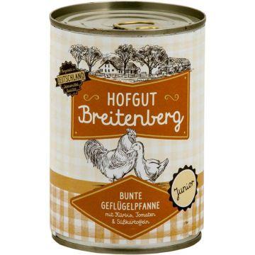 Hofgut Breitenberg Junior Bunte Geflügelpfanne mit Kürbis, Tomaten & Süßkartoffeln 400g (Menge: 6 je Bestelleinheit)