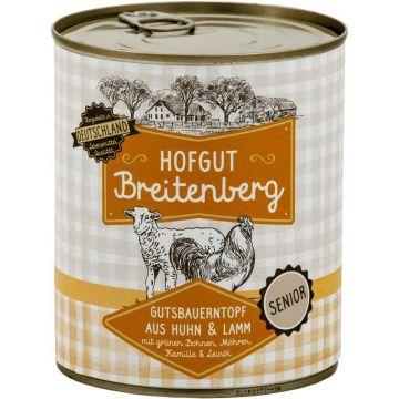 Hofgut Breitenberg Senior Gutsbauerntopf mit grünen Bohnen, Möhren, Kamille  & Leinöl 800g (Menge: 6 je Bestelleinheit)