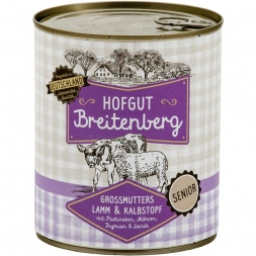 Hofgut Breitenberg Senior Senior Großmutters Lamm & Kalbstopf mit Pastinaken, Möhren, Thymian 800g (Menge: 6 je Bestelleinheit)